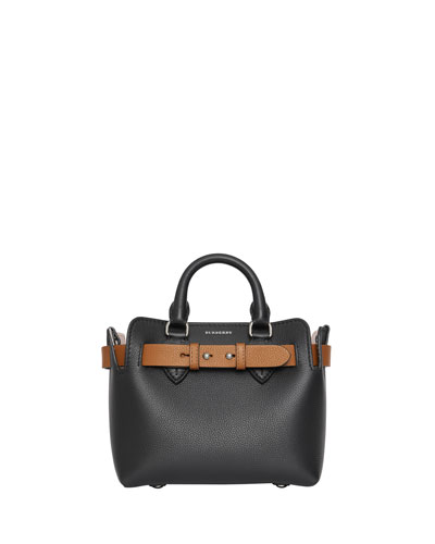 Baby Belted Marais Leather Contrast Tote Bag