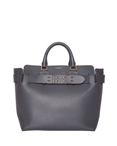 Marais Medium Leather Belted Tote Bag