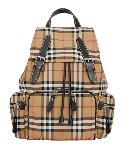 Rucksack Medium Vintage Check Backpack