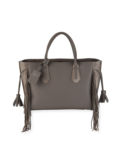Penelope Medium Fringed Suede & Leather Tote Bag