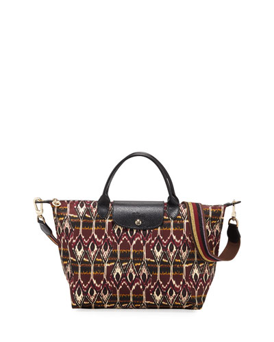 Le Pliage Medium Ikat Top-Handle Tote Bag