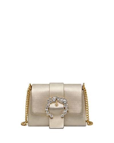 Greer Mini Metallic Leather Crossbody Bag