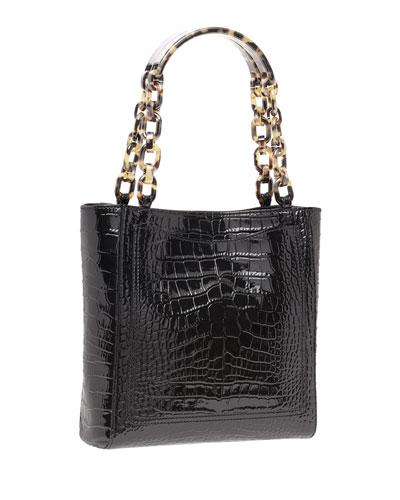 Mini Exotic-Embossed Tote Bag