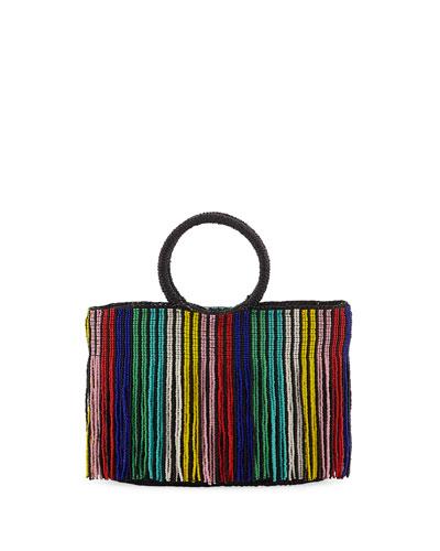 Mini Beaded Top Handle Bag