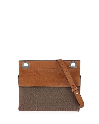 Leather and Monili Shoulder Bag