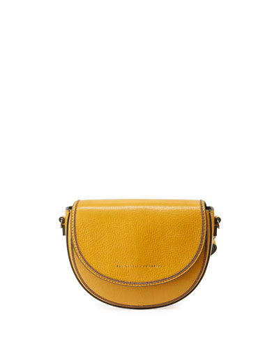 Flap Leather Crossbody Belt Bag