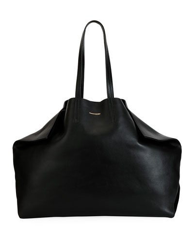 Large Butterfly-Shaped Leather Tote Bag