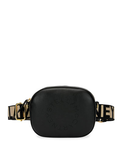 Faux-Leather Logo Belt Bag
