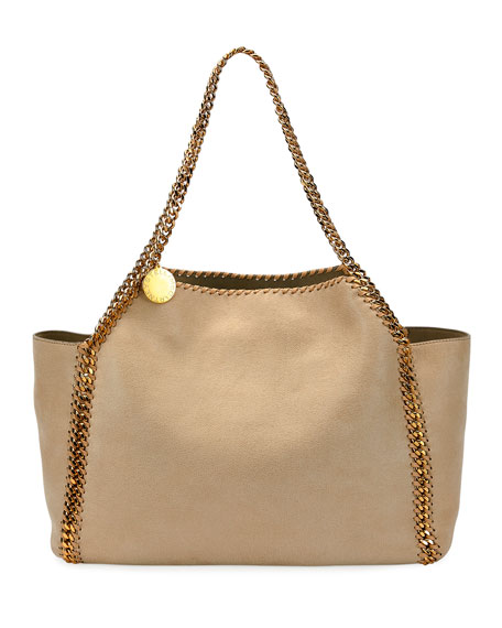 Stella McCartney Falabella Medium Reversible Shaggy Deer Tote Bag