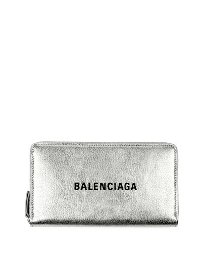 9a244ad99f9 Quick Look. Balenciaga · Everyday Metallic Leather Continental Wallet