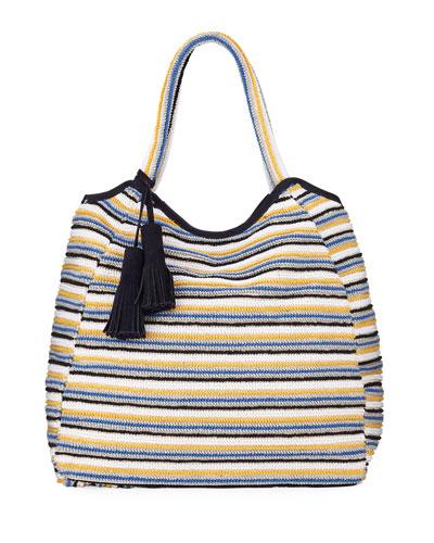 Emma Striped Cotton Tote Bag