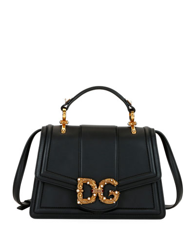 DG Leather Flap Shoulder Bag