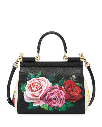 745c7307e54b Quick Look. Dolce   Gabbana · Sicily St. Dauphine Small Roses Shoulder Bag
