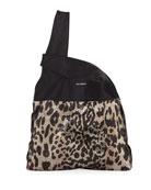 Paco Rabanne Leopard Mini Mesh Hobo Tote Bag