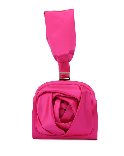 Rose Bracelet Clutch Bag, Hot Pink