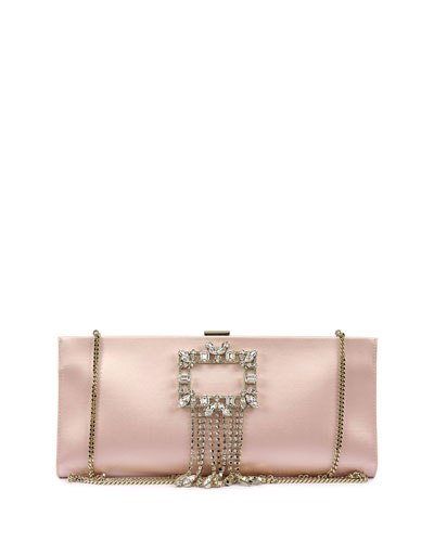 Broche Buckle Pendant Clutch Bag