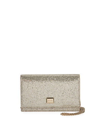 Lizzie Glittered Mesh Shoulder Bag
