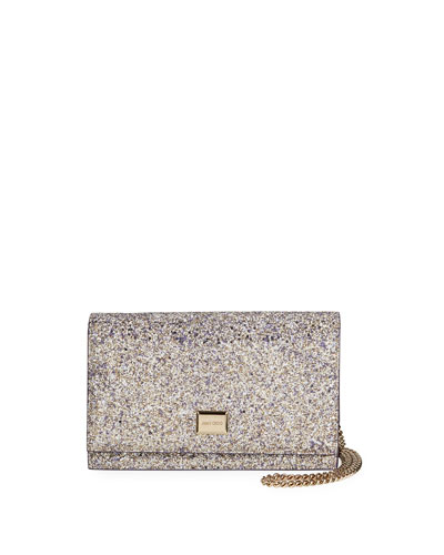 Lizzie Textured Glitter Shoulder Bag