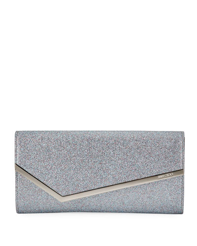 Erica Fine-Glittered Clutch Bag