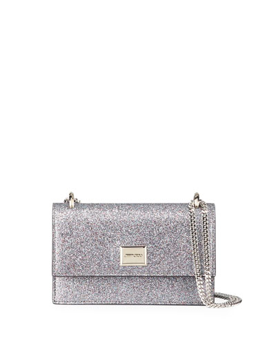 Leni Small Glittered Shoulder Bag