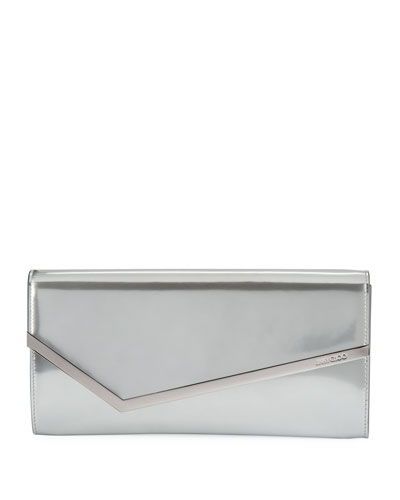 Erica Metallic Patent Clutch Bag