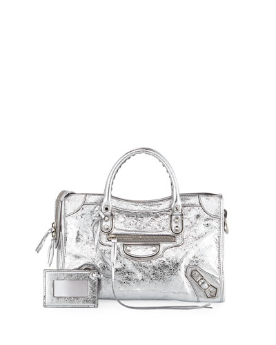 Classic Metallic Edge City Small AJ Bag