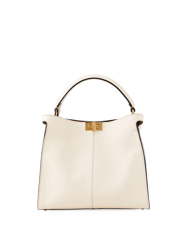 Peekaboo Xlite Mini Top-Handle Bag in White