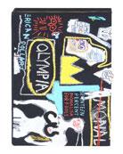 Olympia Le-Tan Basquiat Crown Hotel Artwork Book Clutch