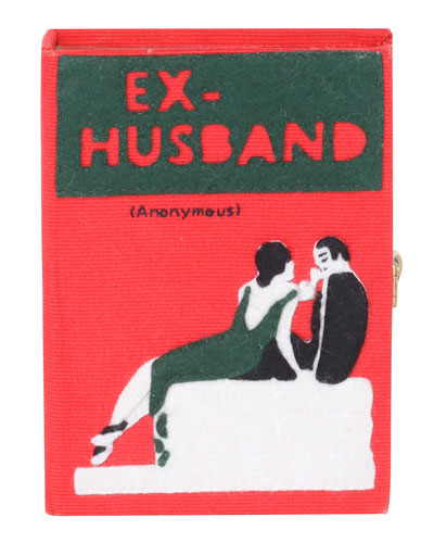 Ex Husband Small Book Clutch Bag