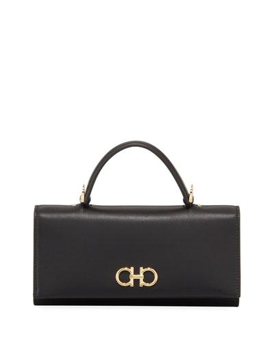 Gancini Mini Leather Wallet Bag