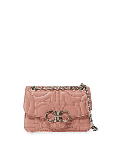 52e11d73c580 Quick Look. Salvatore Ferragamo · Gancio Quilting Small Crossbody Bag