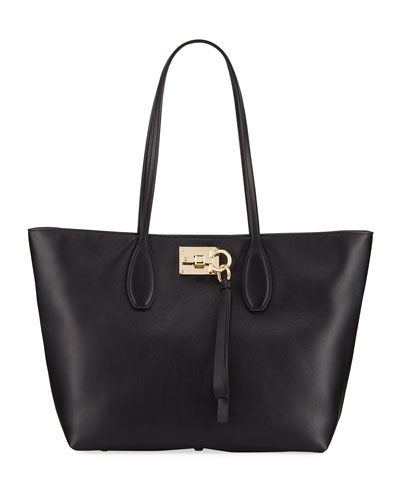 Studio Small Leather Tote Bag