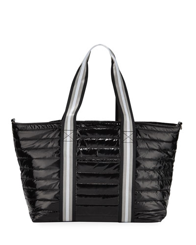 Wingman Glossy Quilted Tote Bag