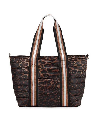 Junior Wingman Leopard-Print Quilted Tote Bag