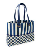 MacKenzie-Childs Royal Check Bistro Tote Bag