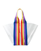 Rebecca Minkoff Fan See-Through Tote Bag with Rainbow