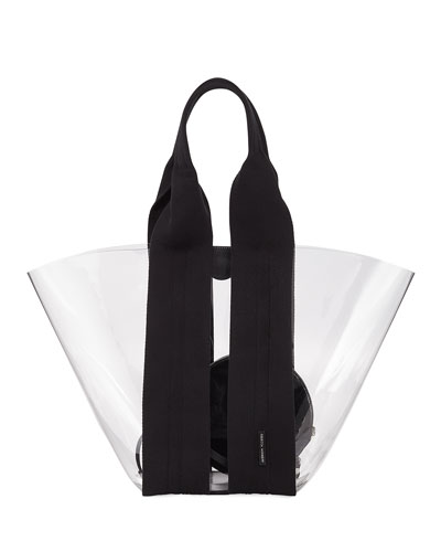 Fan Vinyl Shoulder Tote Bag