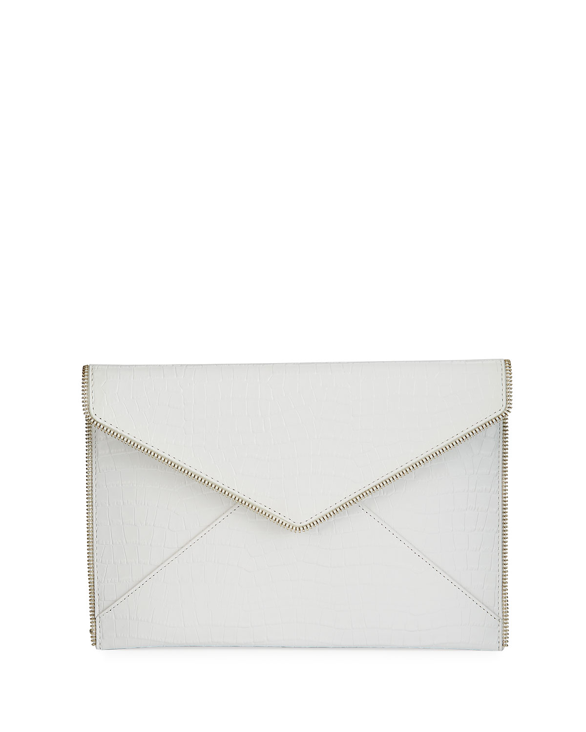 Leo Embossed Envelope Clutch Bag