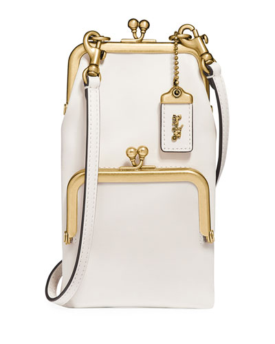 Tall Leather Frame Crossbody Bag