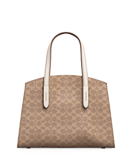 Coach 1941 Charlie Canvas Carryall Satchel Bag