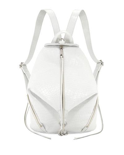 Julian Embossed Medium Leather Backpack