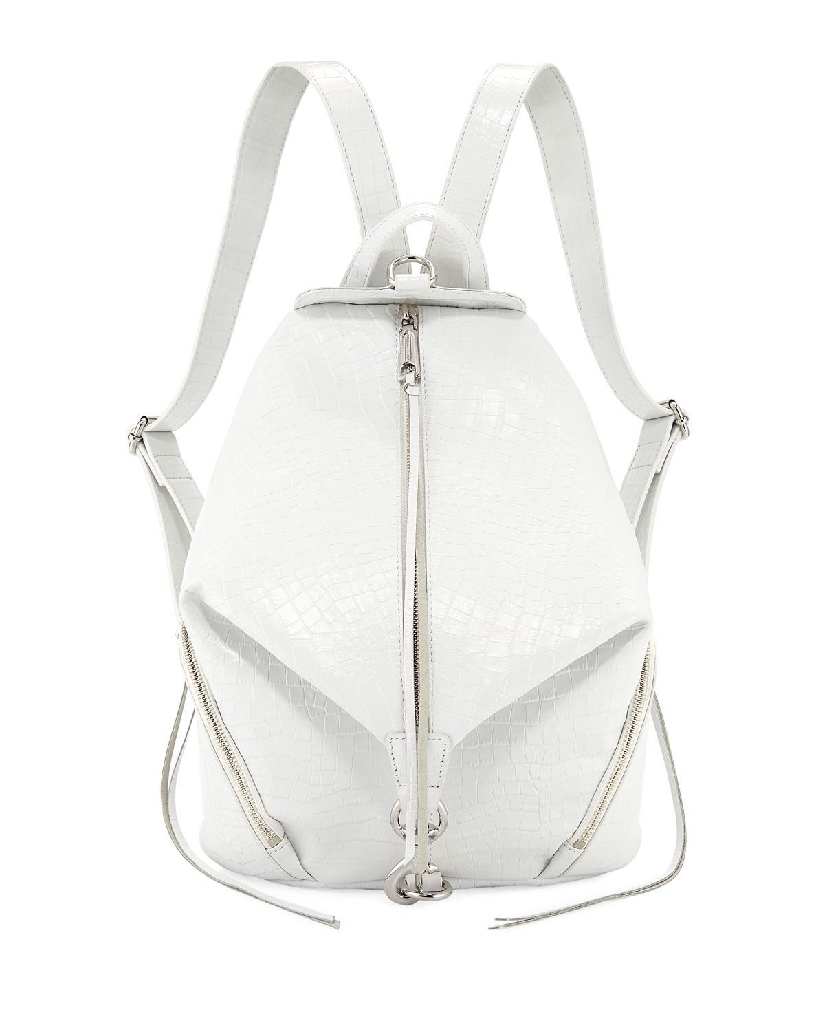 Julian Embossed Medium Leather Backpack