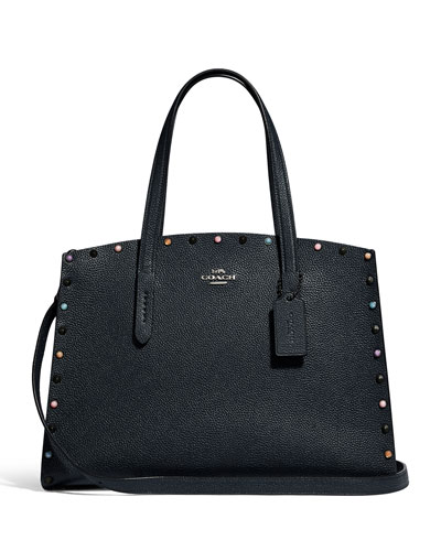 57b31428ec92 Coach Pebbled Leather Handbag