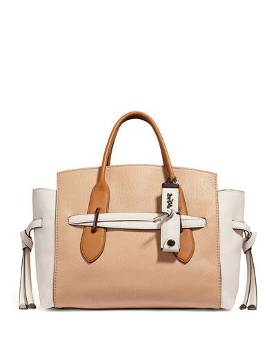 Shadow Colorblock Carryall Satchel Bag