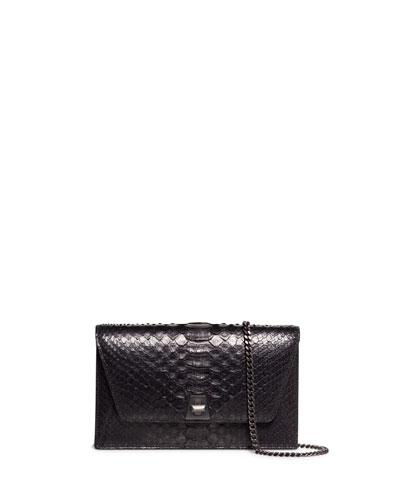 Anouk Python Snakeskin Envelope Clutch Bag