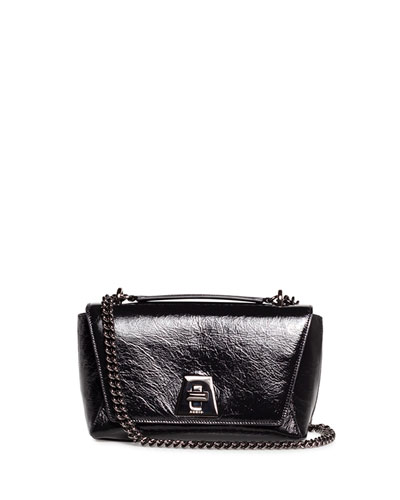 Anouk Day Small Crinkle Patent Shoulder Bag