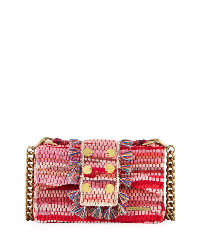 New Yorker Soho Woven Front-Flap Bag
