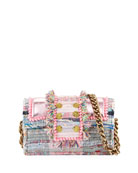Kooreloo Hollywood Babe Woven Front-Flap Bag w/ Crossbody
