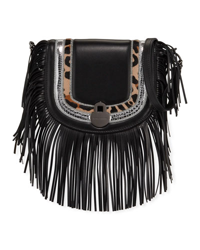 Cavalcade Fringed Leather Crossbody Bag