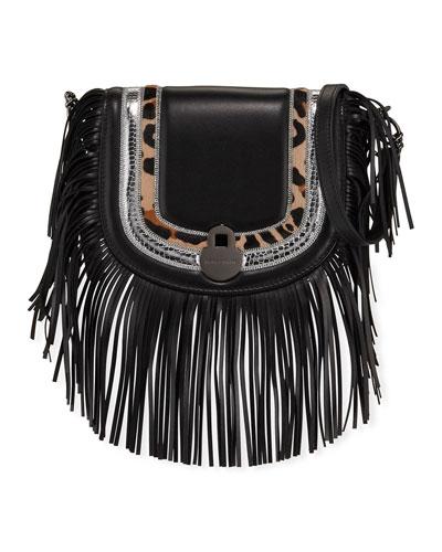 Cavalcade Fringed Leather Crossbody Bag